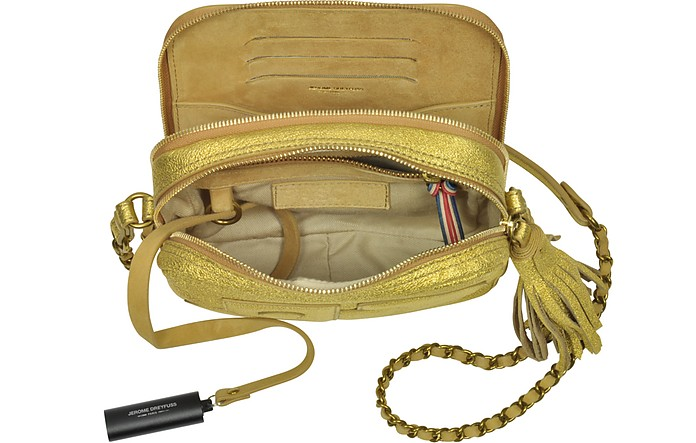 Pascal Camera Bag in Pelle Oro Jerome Dreyfuss 9g2fYavX