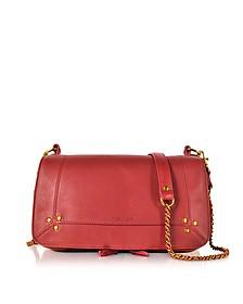 Bobi Red Leather Shoulder Bag - Jerome Dreyfuss
