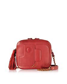 Pascal Lipstick Red Leather Shoulder Bag - Jerome Dreyfuss