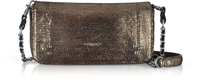 Bob Metalllic Leather Shoulder Bag - Jerome Dreyfuss