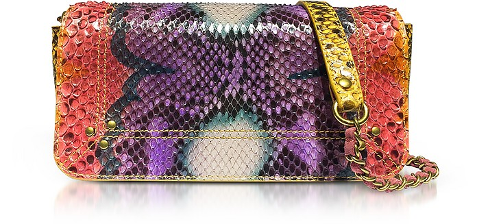 Bob Nirvana Printed Python Leather Shoulder Bag - Jerome Dreyfuss
