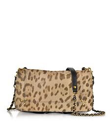 Bobi Leopard Printed Haircalf Shoulder Bag - Jerome Dreyfuss