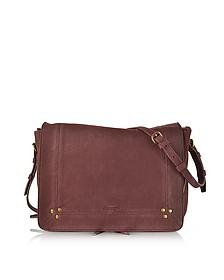 Igor Bordeaux Leather Shoulder Bag - Jerome Dreyfuss