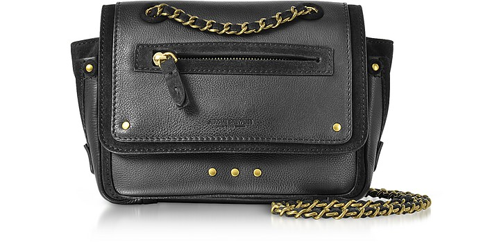 Benji Leather and Suede Mini Crossbody Bag - Jerome Dreyfuss