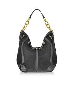 Tanguy Black Split Leather Shoulder Bag - Jerome Dreyfuss