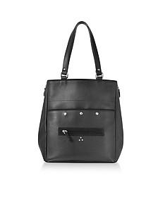 Serge Black Leather Tote Bag - Jerome Dreyfuss