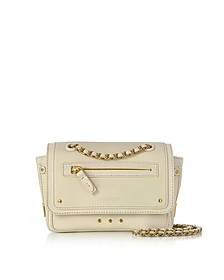 Benji Cream Leather and Suede Mini Crossbody Bag - Jerome Dreyfuss