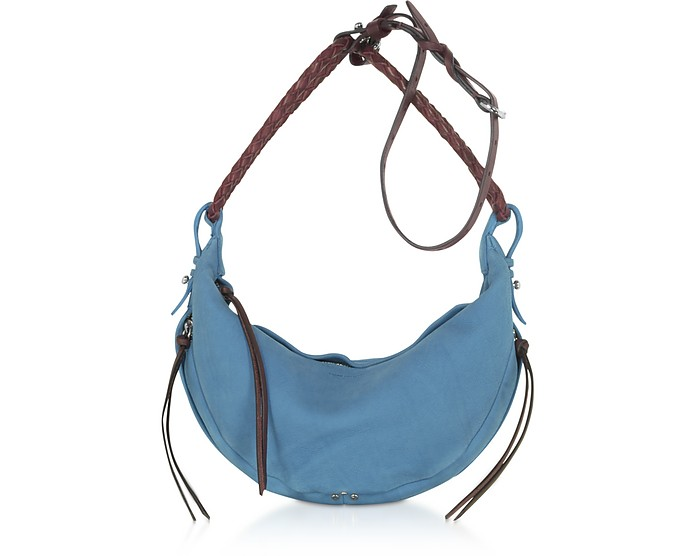 Willy M Light Blue Leather Shoulder Bag - Jerome Dreyfuss