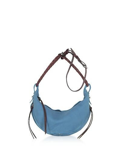 Willy M Lighr Blue Leather Shoulder Bag - Jerome Dreyfuss