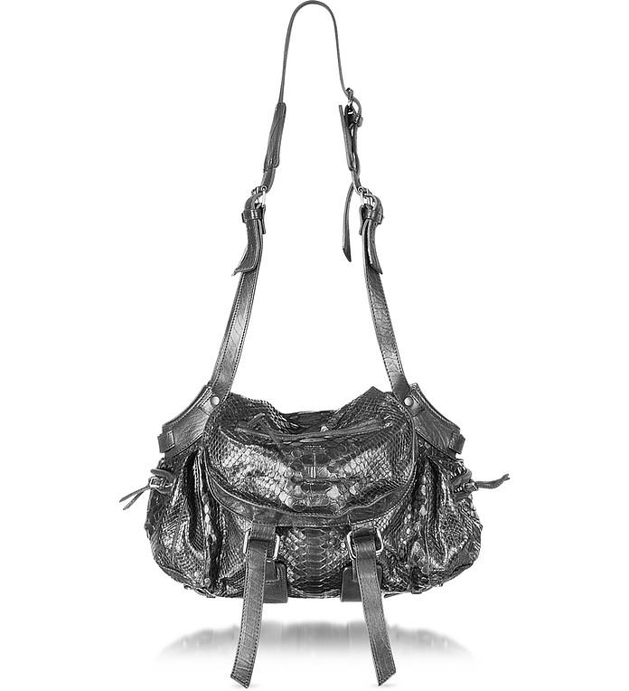457c64c67d9 Jerome Dreyfuss Twee - Python Leather Shoulder Bag at FORZIERI