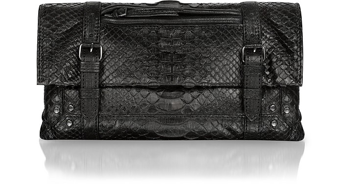 Leon - Python Leather Clutch - Jerome Dreyfuss
