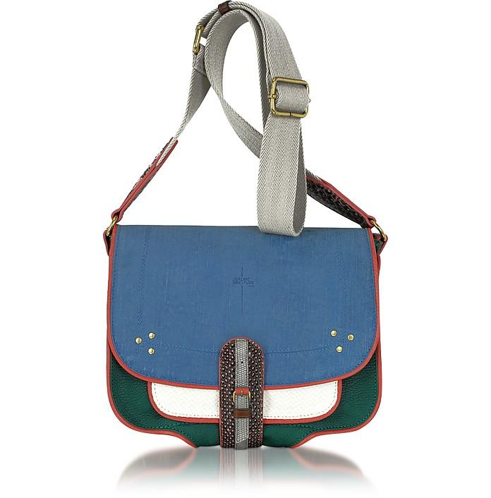1ffbeb299f3 Jerome Dreyfuss Fredo Color Block Embossed Leather Shoulder Bag