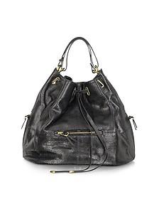 Alain Noir Calfskin Bucket/Shoulder Bag