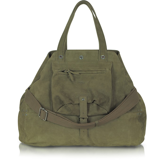 Billy Large Olive Green Goatskin Tote - Jerome Dreyfuss