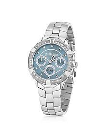 Stainlees Steel Crystals Women's Watch