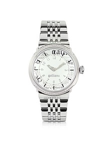 Women's Crystal White Dial Watch