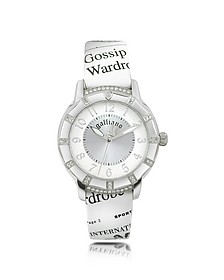 Parlez Moi d'Amour - Stainless Steel with Leather Strap Watch