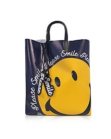 Blue Smile Tote Bag - Joshua Sanders