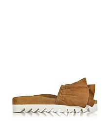 Tabac Ruches Suede Slide - Joshua Sanders
