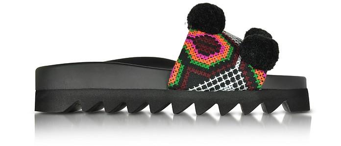 Namibia Multicolor Fabric Slide - Joshua Sanders