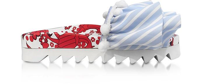 Lobster Embroidery Multicolor Fabric Slide - Joshua Sanders