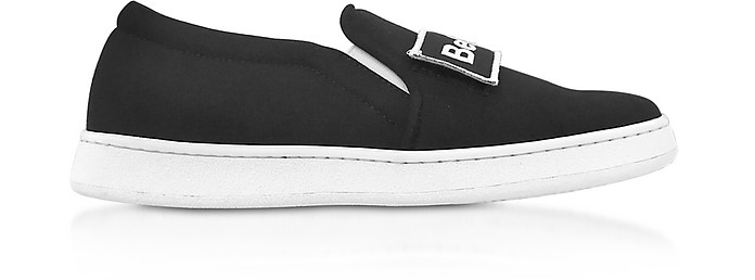 Naomi Black Fabric Slip-on Sneaker - Joshua Sanders