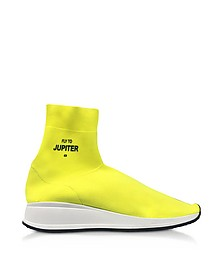 Fly To Jupiter Neon Yellow Nylon Sock Sneakers - Joshua Sanders