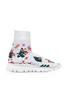White Flower Nylon Sock Sneakers - Joshua Sanders