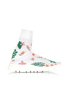 White Flower Nylon Sock Sneakers - Joshua Sanders