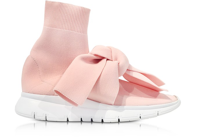 JOSHUA SANDERS Designer Shoes, Knot Nylon Sock Sneakers