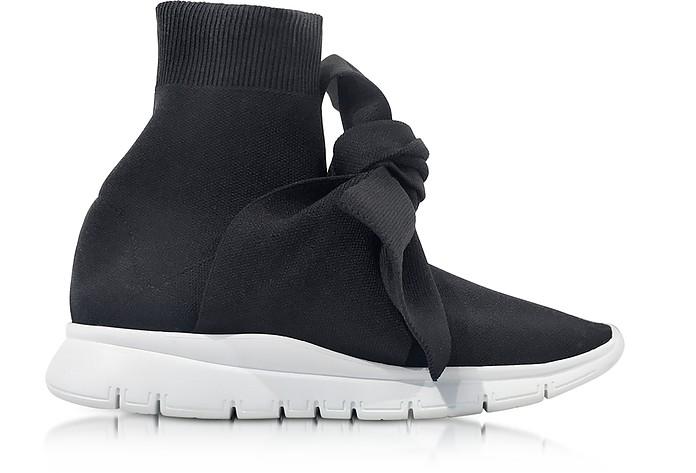 Knot Black Nylon Sock Sneakers - Joshua Sanders