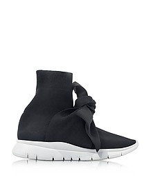 Knot Black Nylon Sock Sneakers - Joshua Sanders