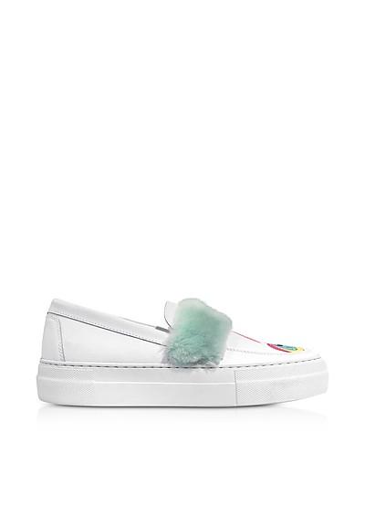 My Little Pony Eco Fur Slip on Sneakers - Joshua Sanders