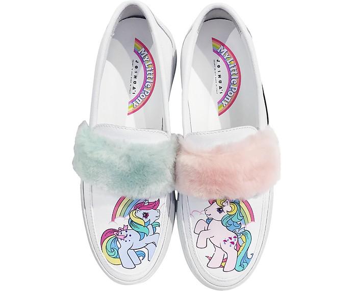 My Little Pony Sneakers Slip on in Pelle Joshua Sanders 36 GWmGm1y3