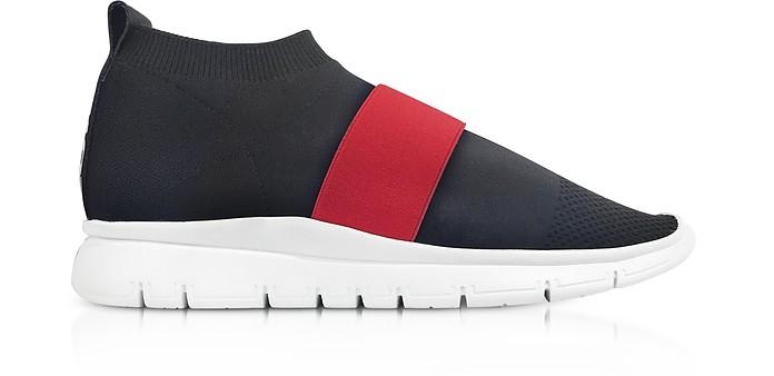 Black Go High Nylon Sock Sneakers - Joshua Sanders