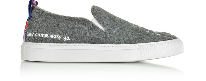 Gray London Slip On Sneakers - Joshua Sanders