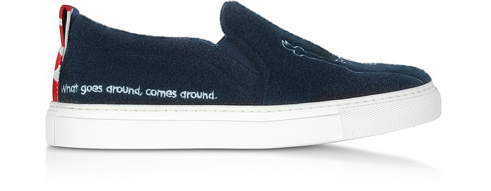 Blue New York Slip On Women's Sneakers - Joshua Sanders