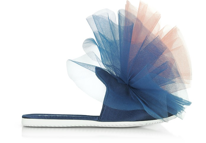 Blue and Pink Tulle Mule - Joshua Sanders