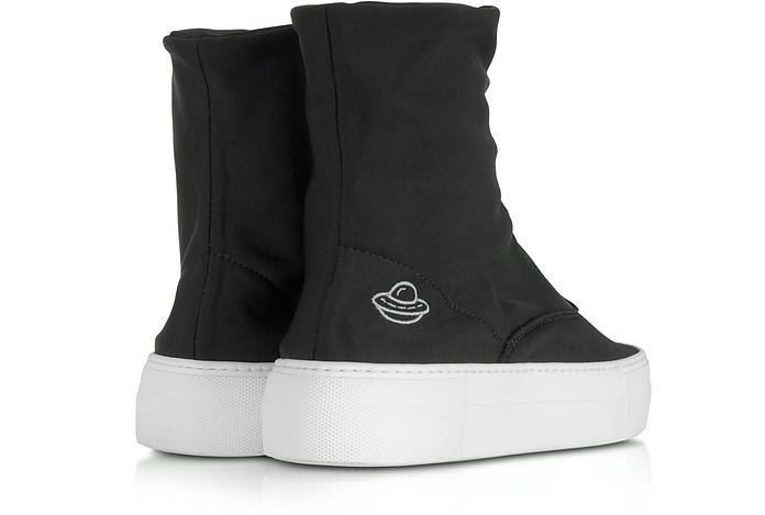 JOSHUA SANDERS Designer Shoes, Are We Alone Neoprene High Top Sneakers