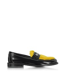 Yellow Last Dance Furry Loafer - Joshua Sanders