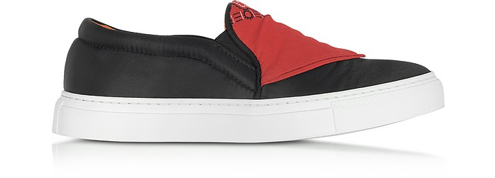 Black Nylon Slip On Bandana Sneakers - Joshua Sanders