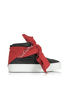 Black Nylon High Top Bandana Sneakers - Joshua Sanders