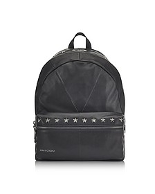 Reed BLS Biker Black Leather Backpack w/Studded Stars - Jimmy Choo