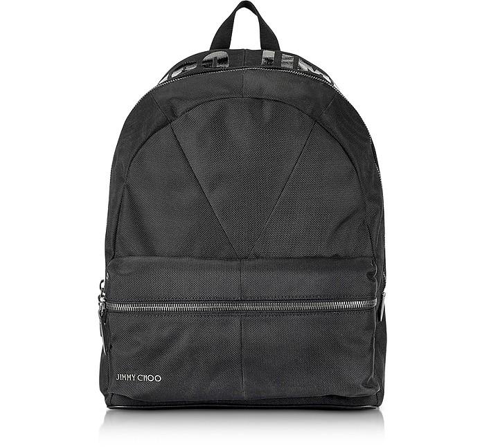 Reed JIC Jimmy Choo Black Canvas and Woven Nylon Backpack - Jimmy Choo