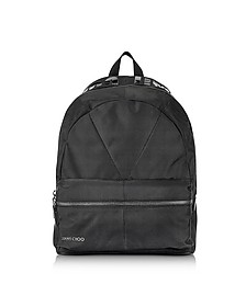 Reed JIC Jimmy Choo Black Canvas and Woven Nylon Backpack - Jimmy Choo