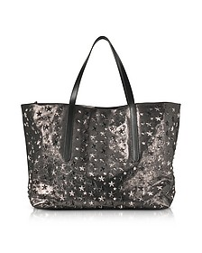 Pimlico GTA Metallic Leather Large Tote Bag w/Multi Metal Stars - Jimmy Choo