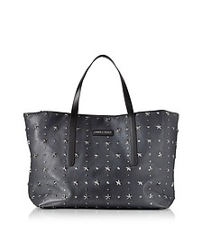 Pimlico Navy/Slate Leather Men's Large Tote  - Jimmy Choo