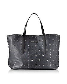 Pimlico Navy/Slate Leather Large Tote  - Jimmy Choo