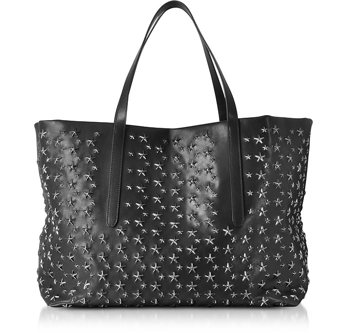 Black Stars Studded Leather Pimlico Large Tote Bag - Jimmy Choo