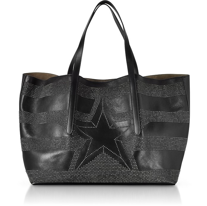 Pimlico Tao Large Black Leather Tote - Jimmy Choo